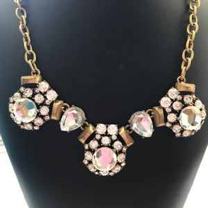 ❤️JCrew Clear Rhinestone Statement Necklace❤️